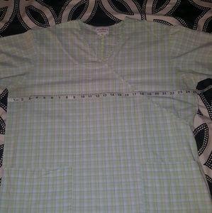 Tops - Size 2X Pale Green pink Blue Scrub top